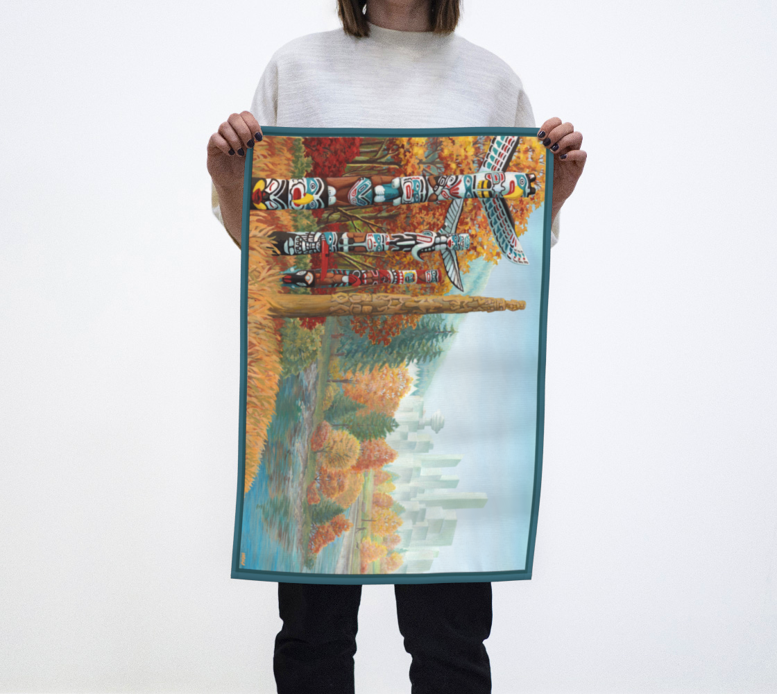 Vancouver Canada Towels - Two Worlds Collide preview