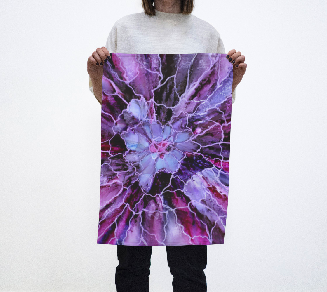 Pink and Mauve Abstract Alcohol Ink Art Bloom preview