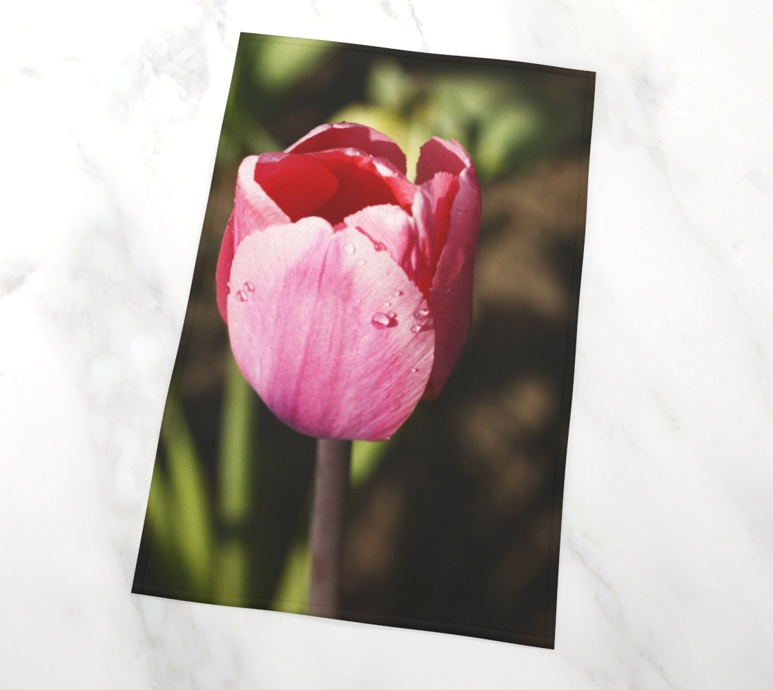 Pink Tulip with Raindrops preview #2