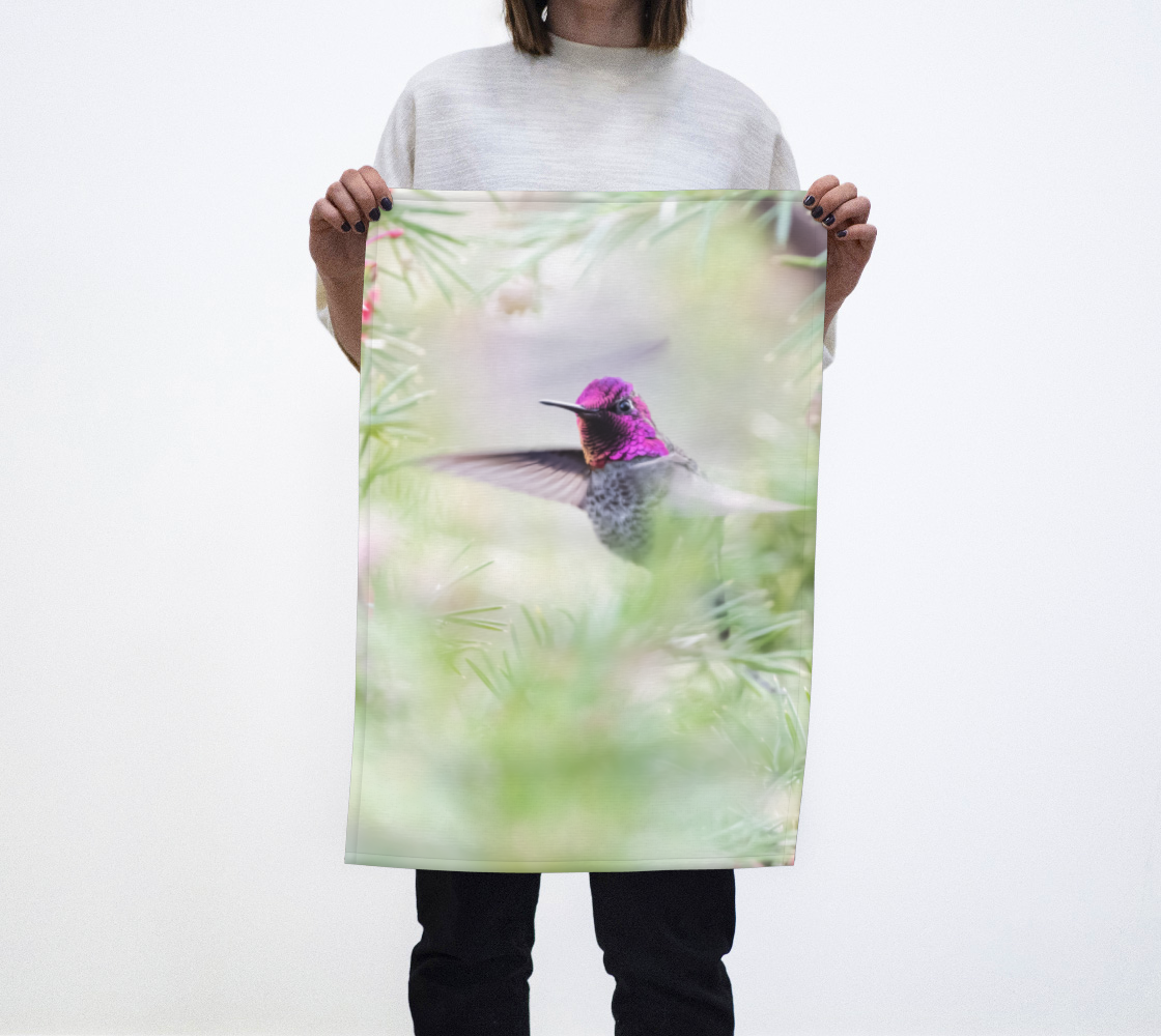 Aperçu de Hummingbird Tea Towel
