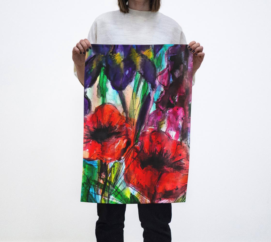 Aperçu de Vibrant Garden Tea Towel