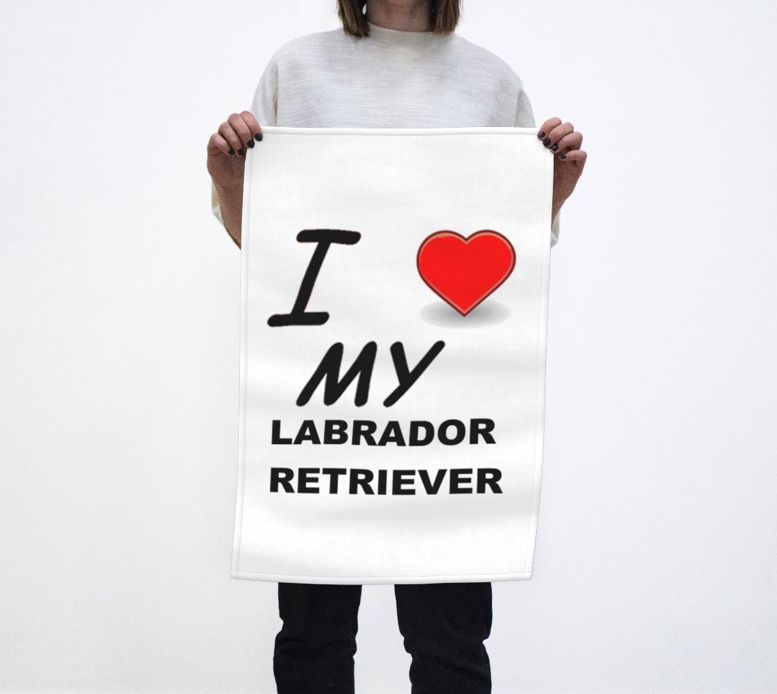 Labrador Retriever love tea towel preview