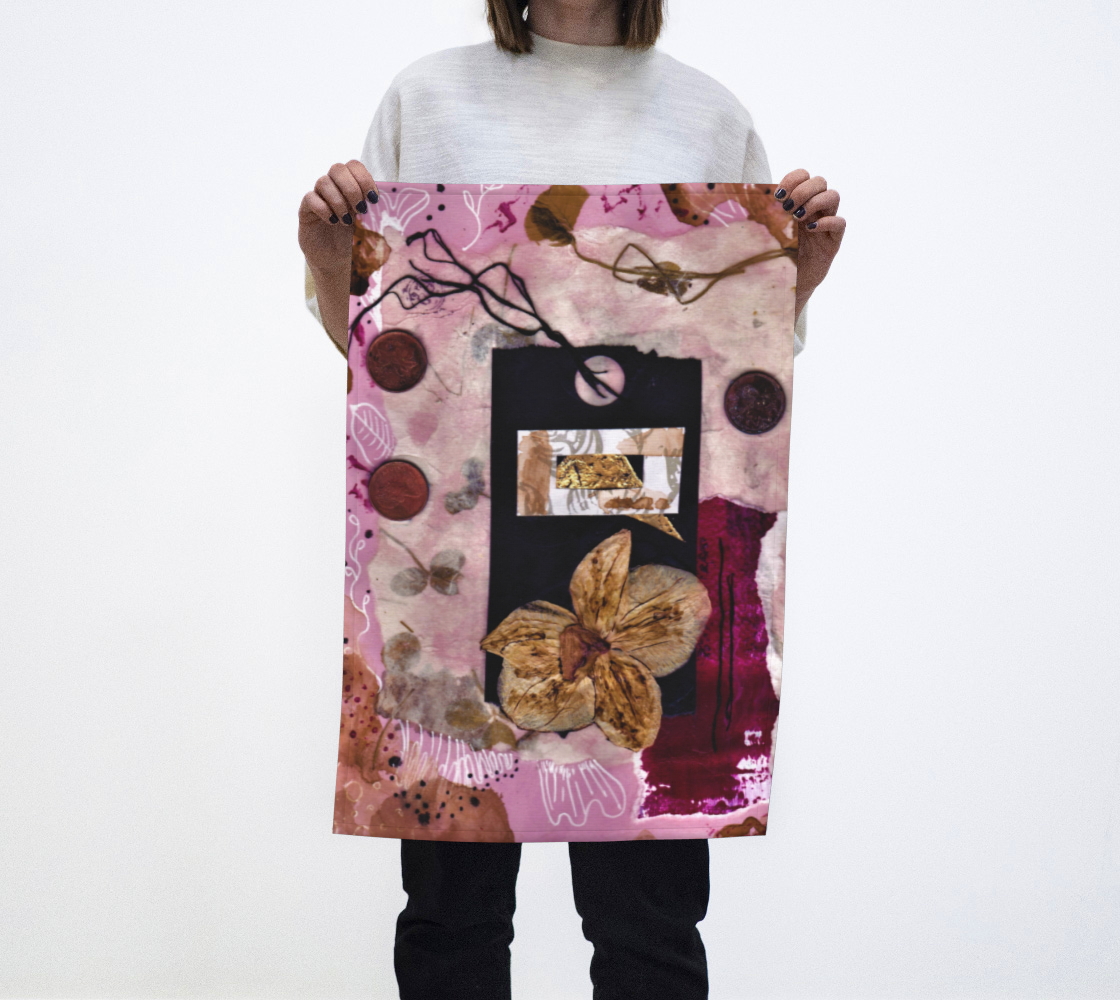 Revisiting Parts of You Tea Towel by Painterly Cindy and More preview