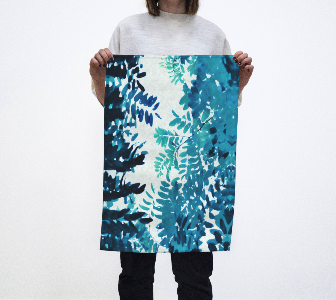 Aperçu de Blue Green Frond Leaves Botanical