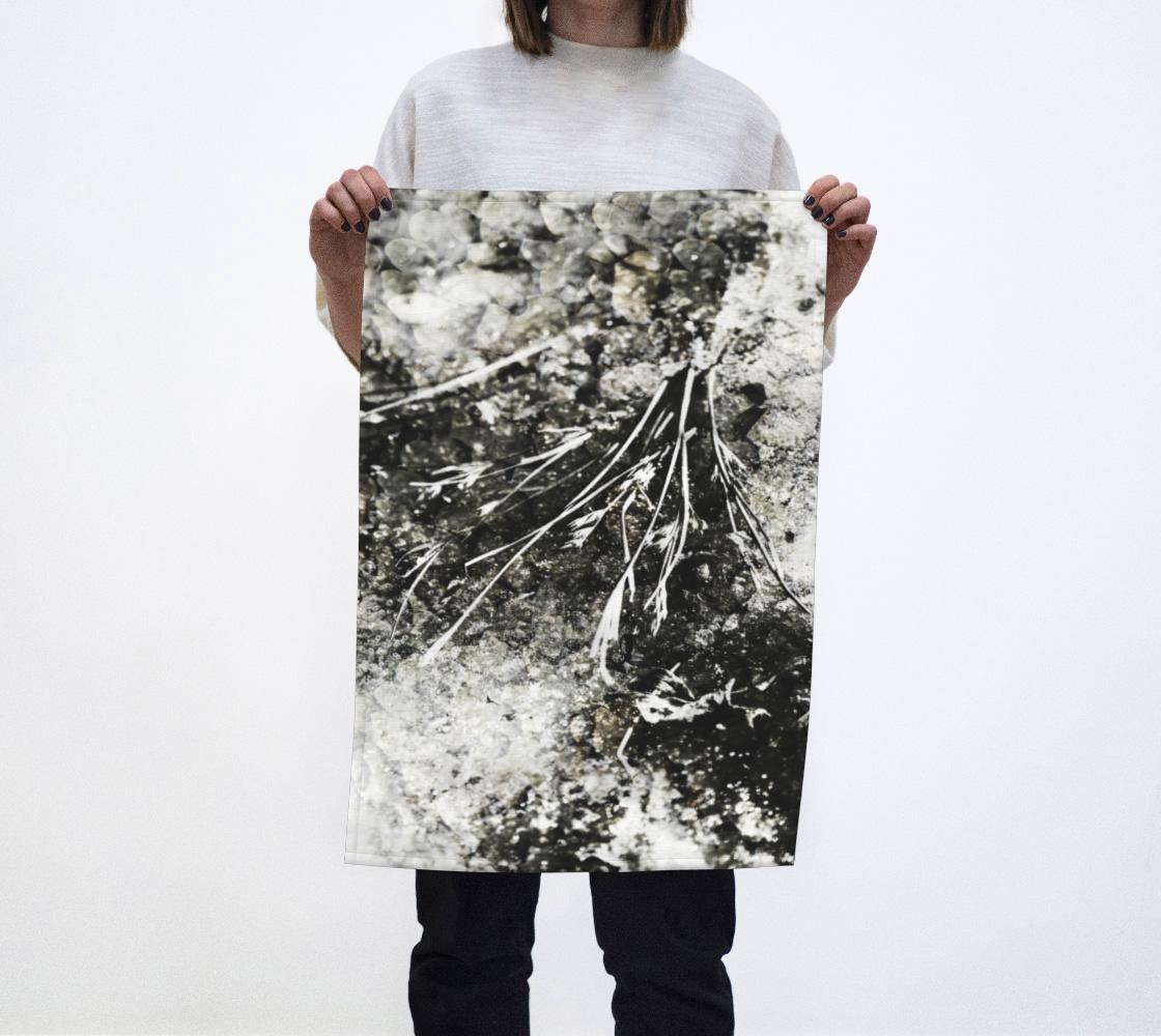 Aperçu de Modern Grunge Botanical Mottled Black Brown White