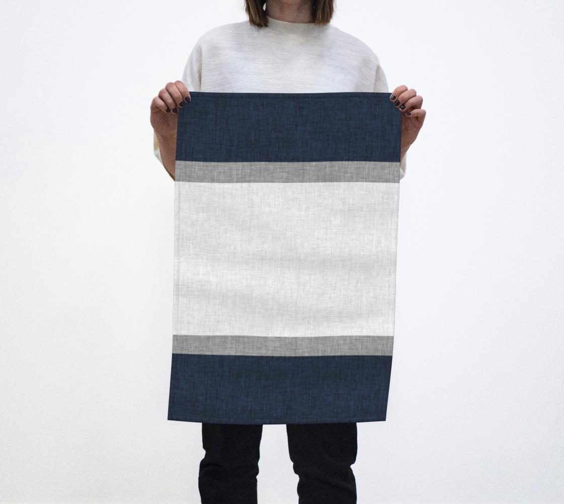 Aperçu de Dark Blue Grey White Crosshatch Pattern Stripe