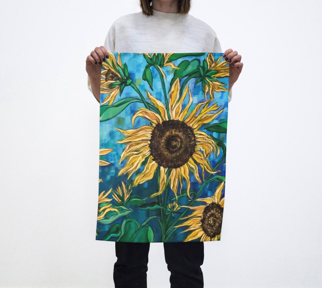 Aperçu de Summer Sunflowers Tea Towel