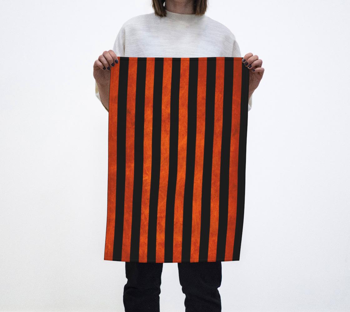 Stripes Collection: Halloween Tea Towel aperçu