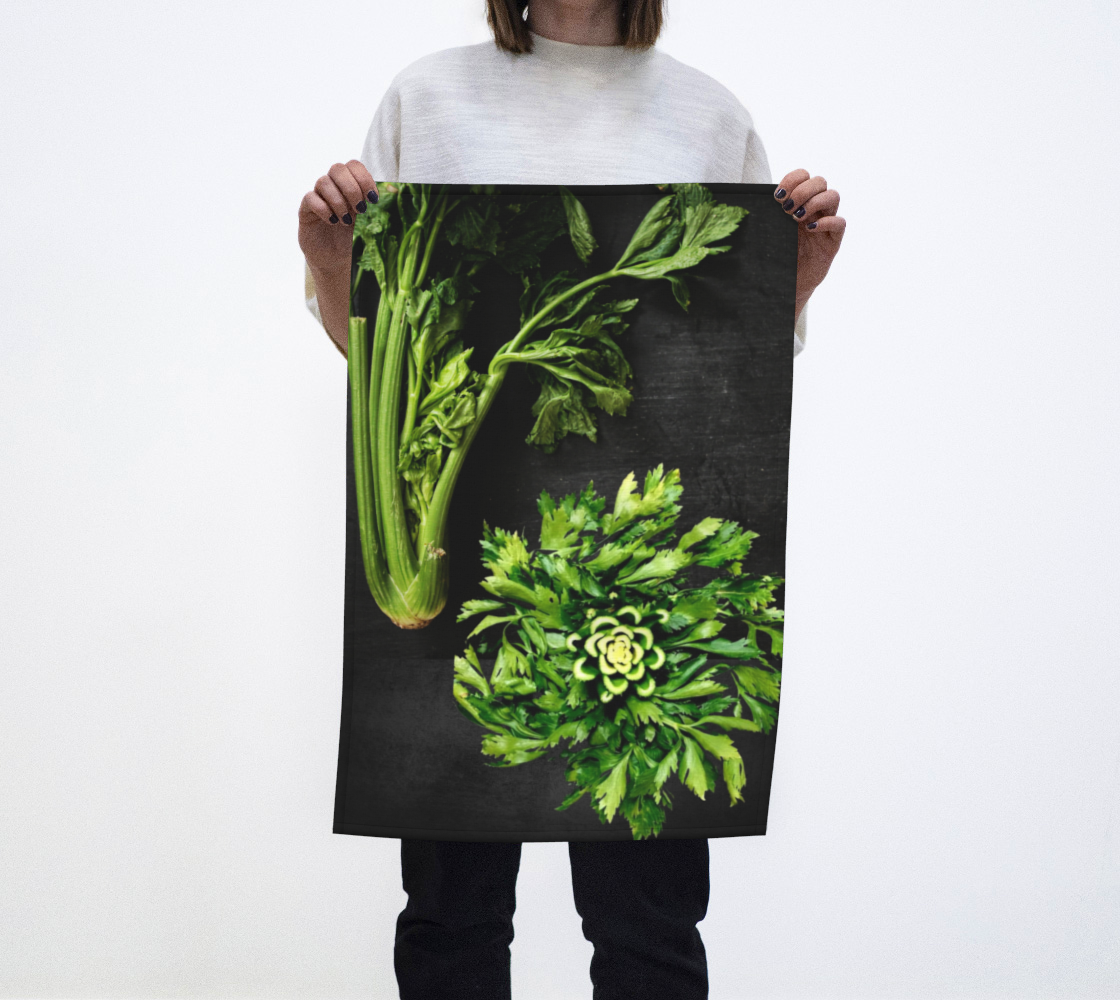 celery tea towel aperçu