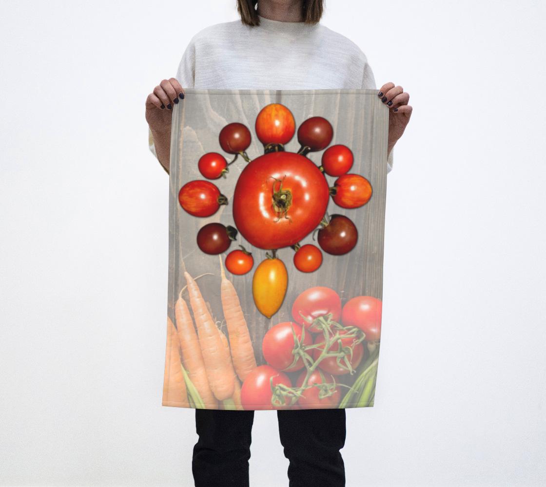 Tomato tea towel aperçu