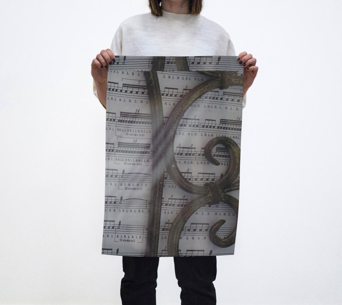 Music notes Tea towel  aperçu