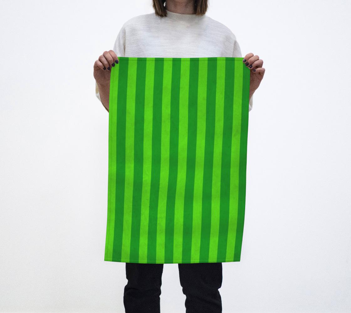 Stripes Collection: Fields Of Green Tea Towel aperçu