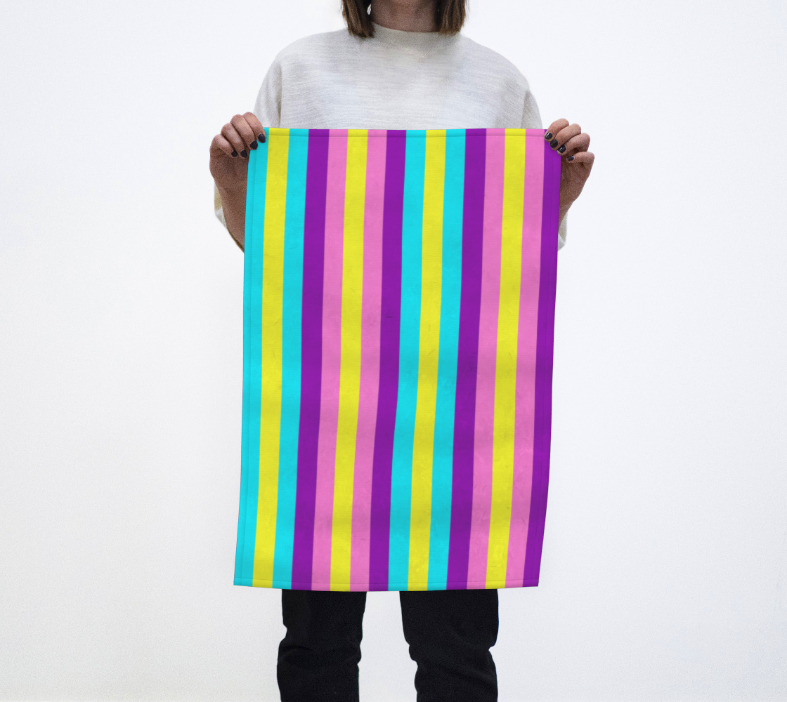 Stripes Collection: Fairy Fantasy Tea Towel aperçu