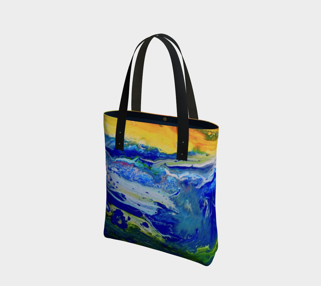 Aperçu de Sunset on cosmic sea Bag