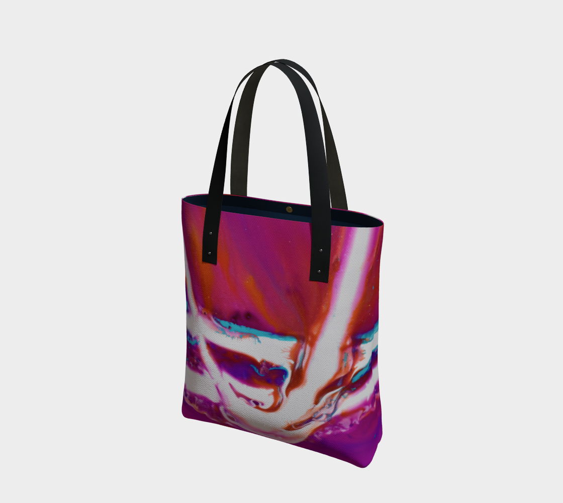 Aperçu de Powerful abstract Pink and white Bag