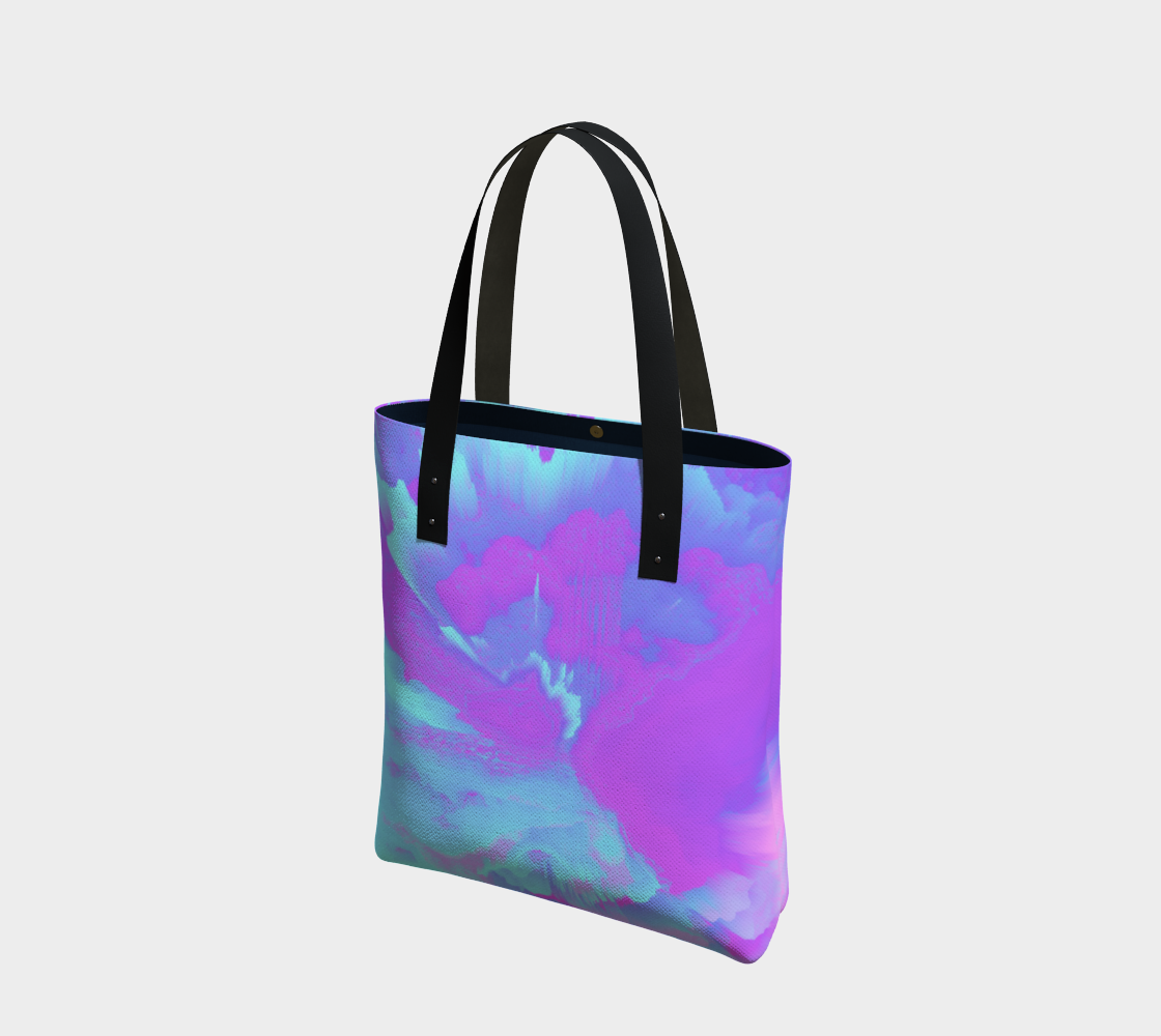 Organized Chaos Glitched Fluid Art Tote Bag preview