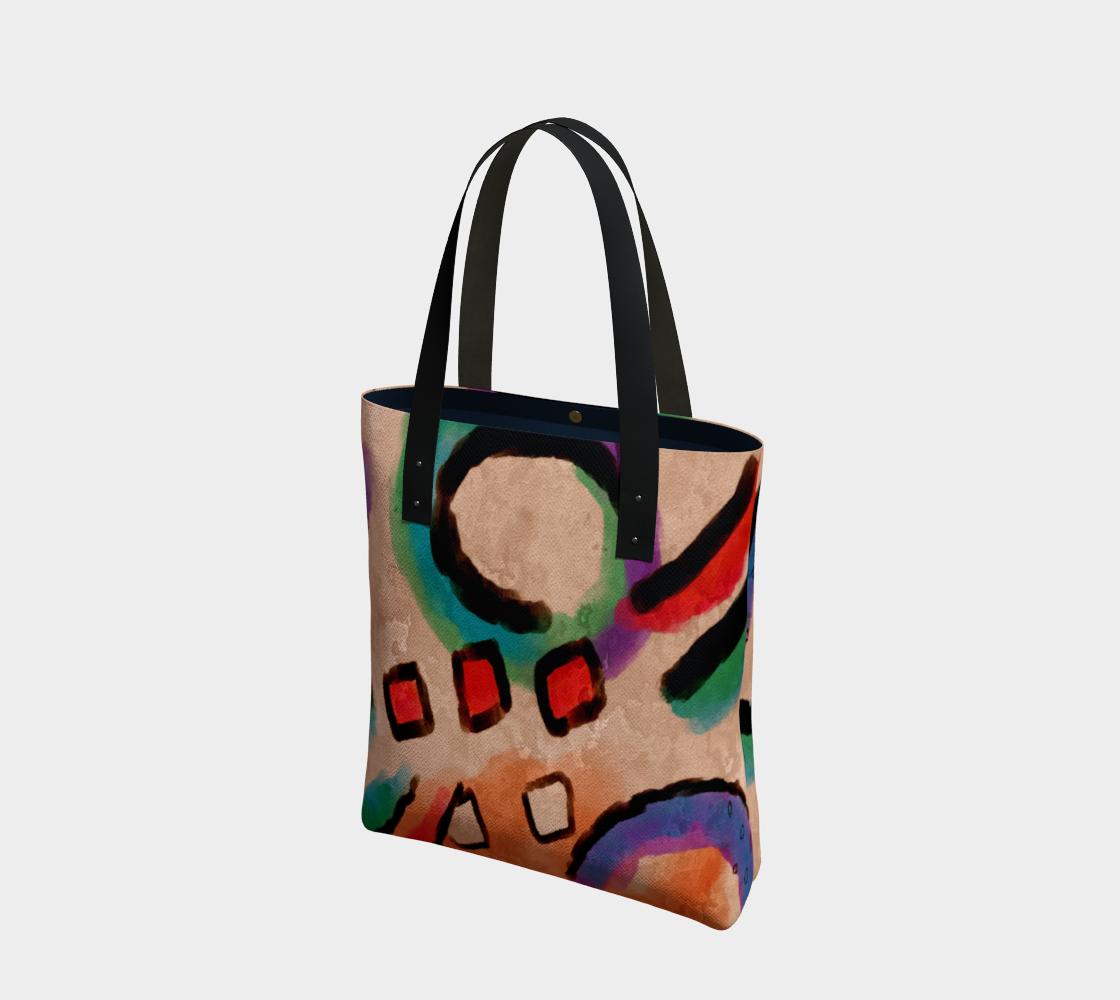 Aperçu de Colorful Abstract Art Shoulder Bag