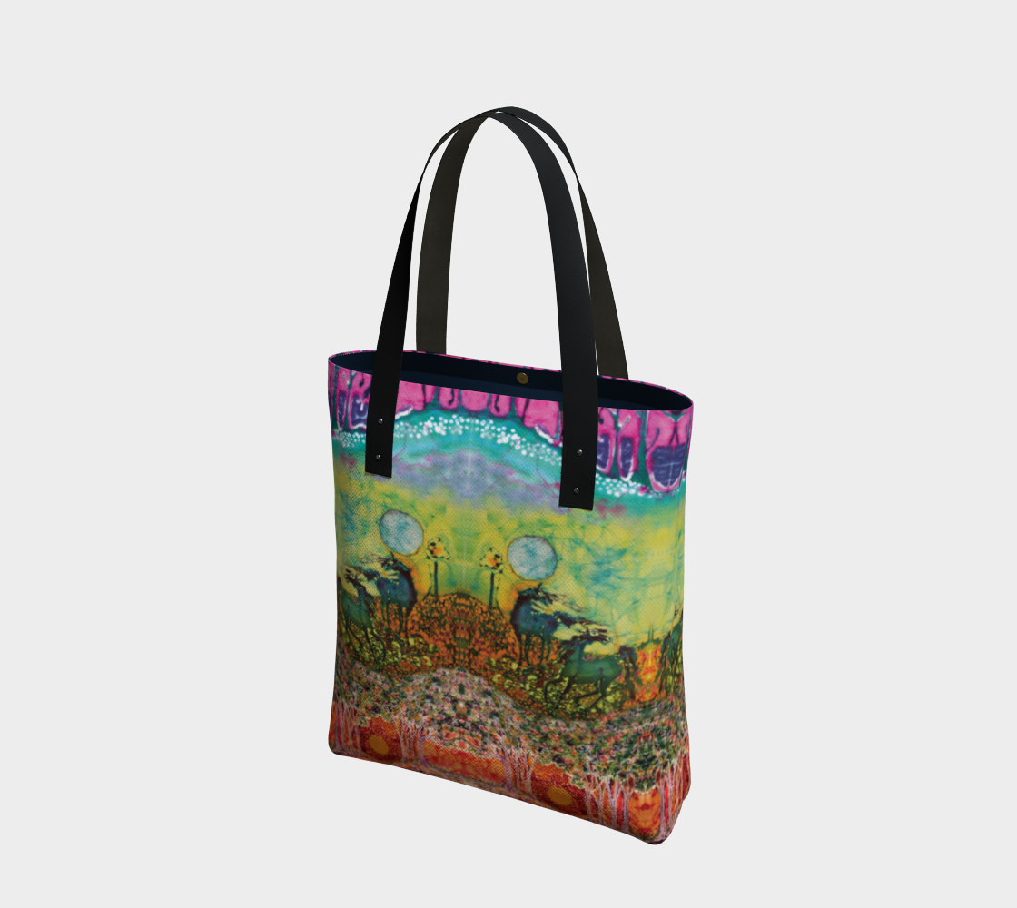 Horses in the Moon Tote Bag preview