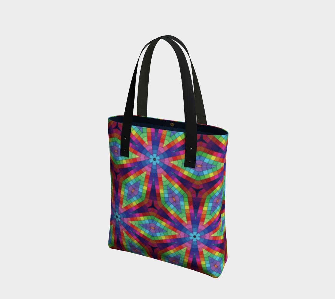 Aperçu de Rainbow Kaleidoscope Tote Bag