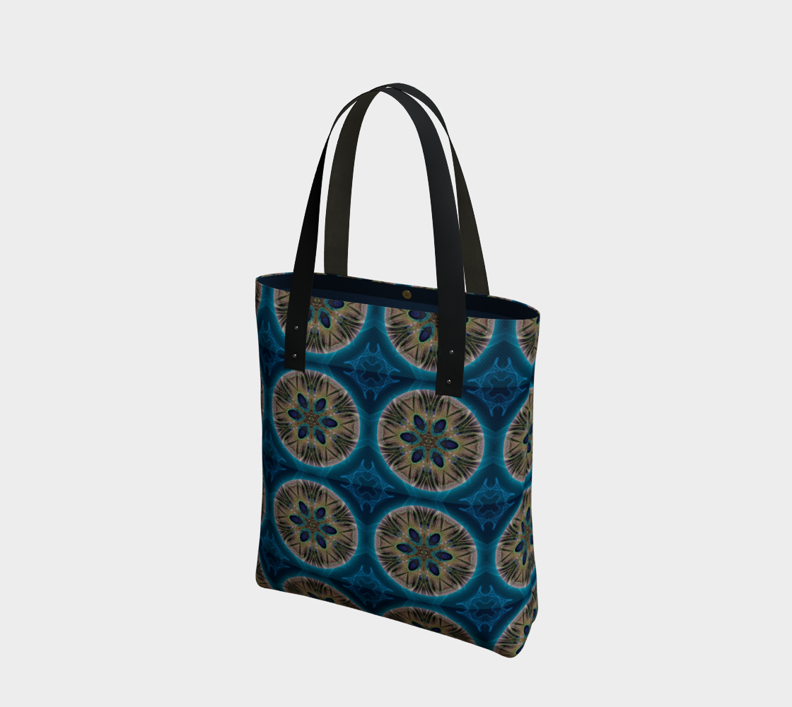 Peacock Power Mandala Beach Tote preview