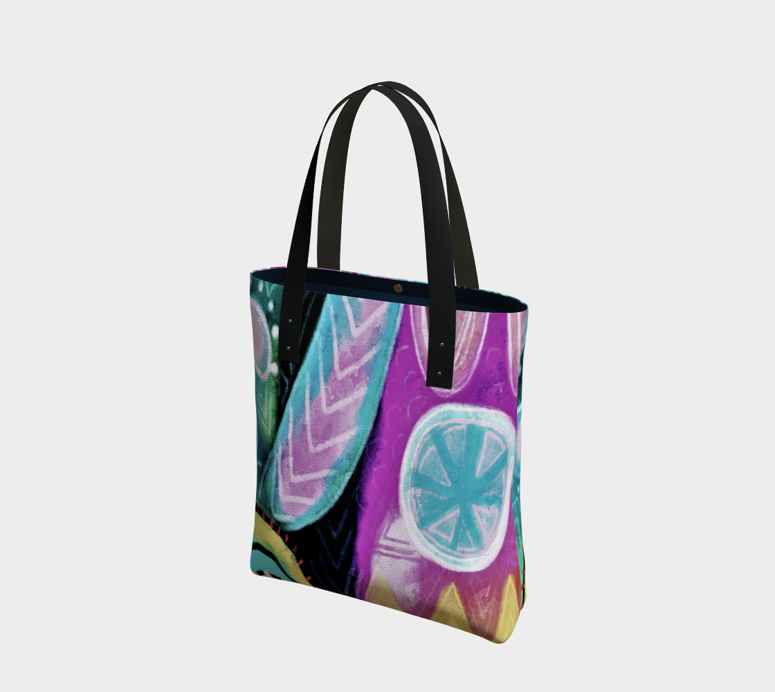Aperçu de Colorful Abstract Art Shoulder Bag
