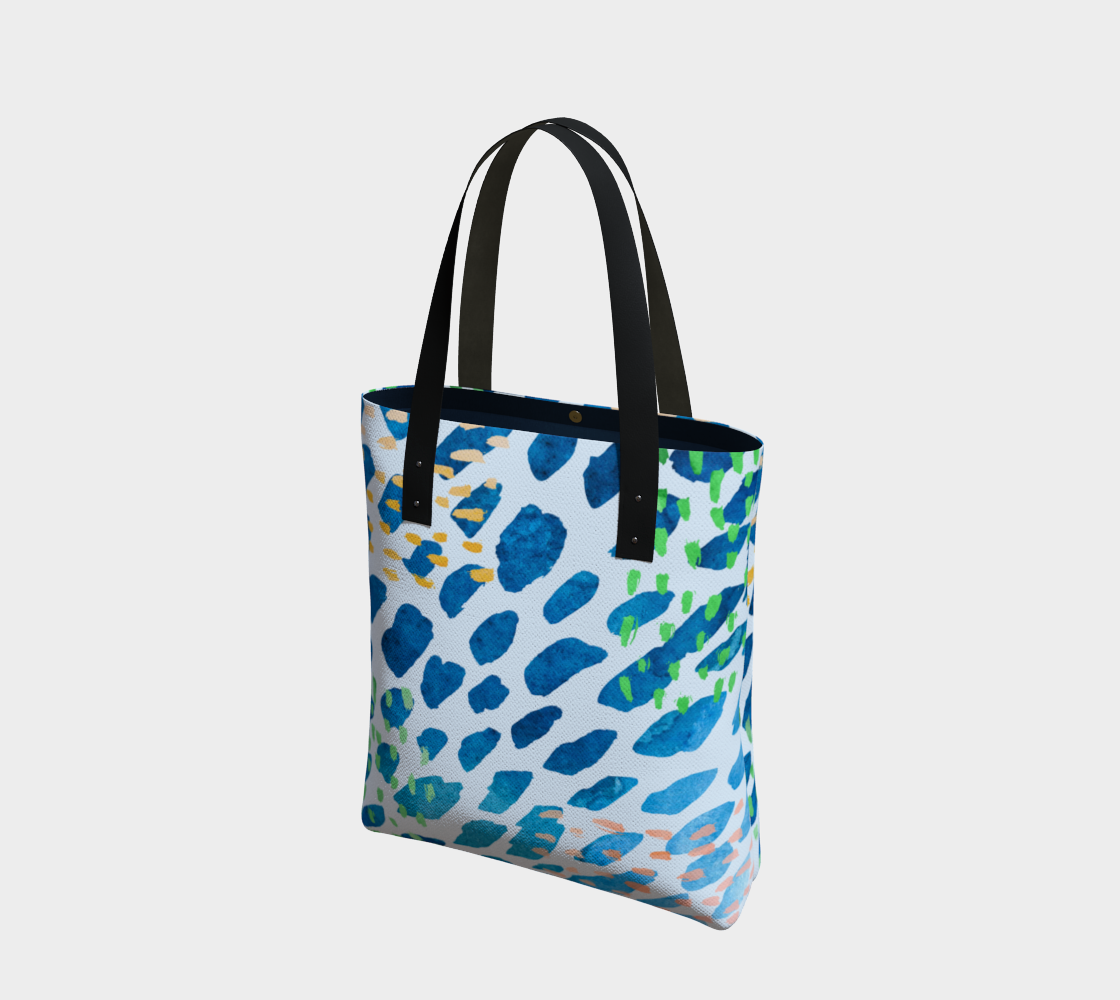Under The Sea Watercolor Abstract Tote Bag preview