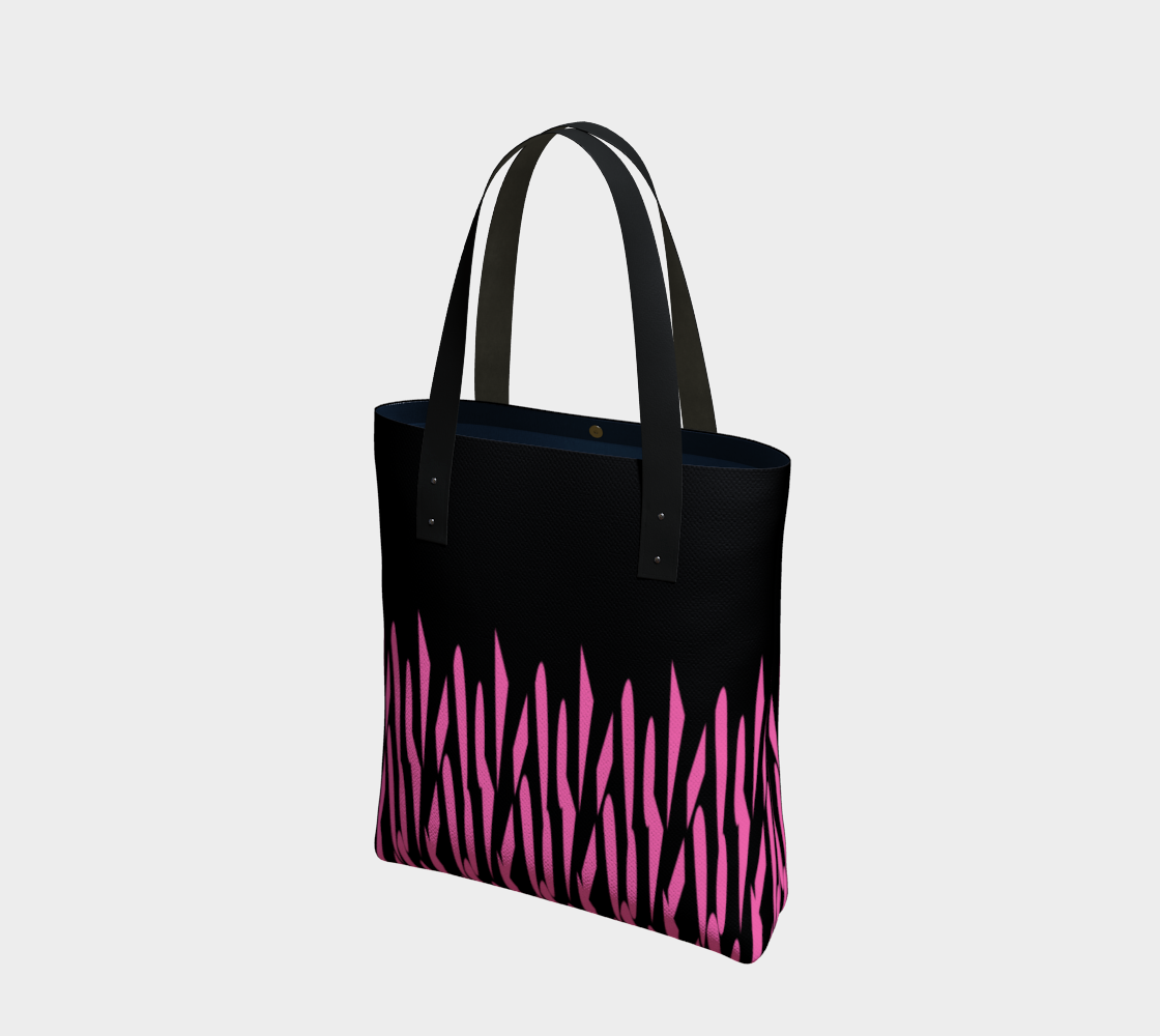 Pink and Black Ice Abstract Tote Bag preview