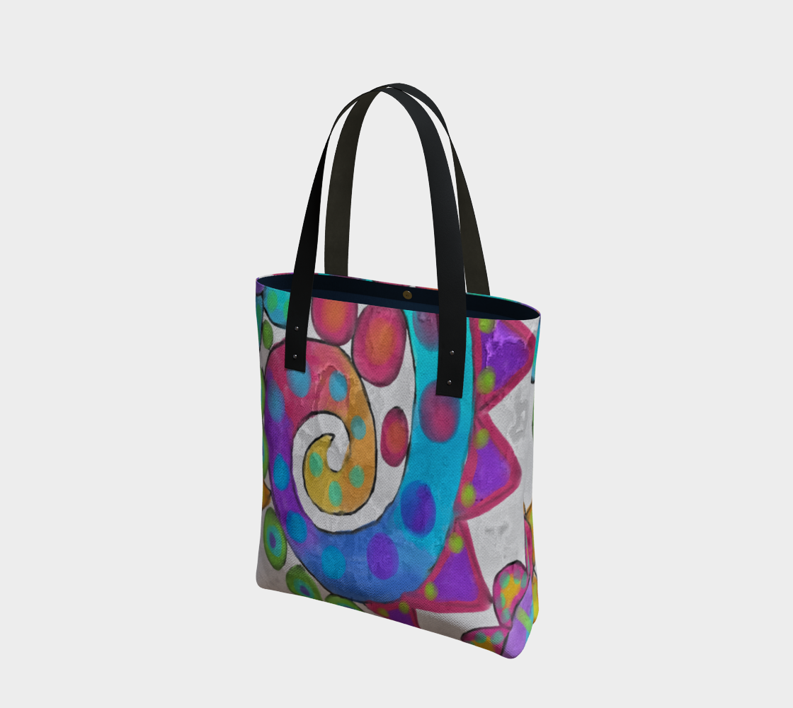 Aperçu de Funky Abstract Art Tote Bag