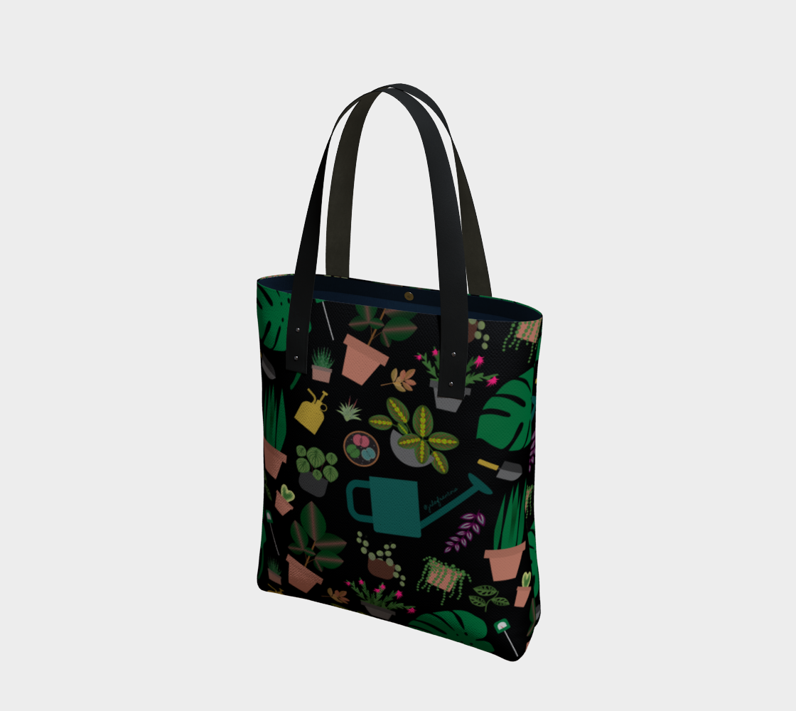 All Over Plant Tote - Dark preview