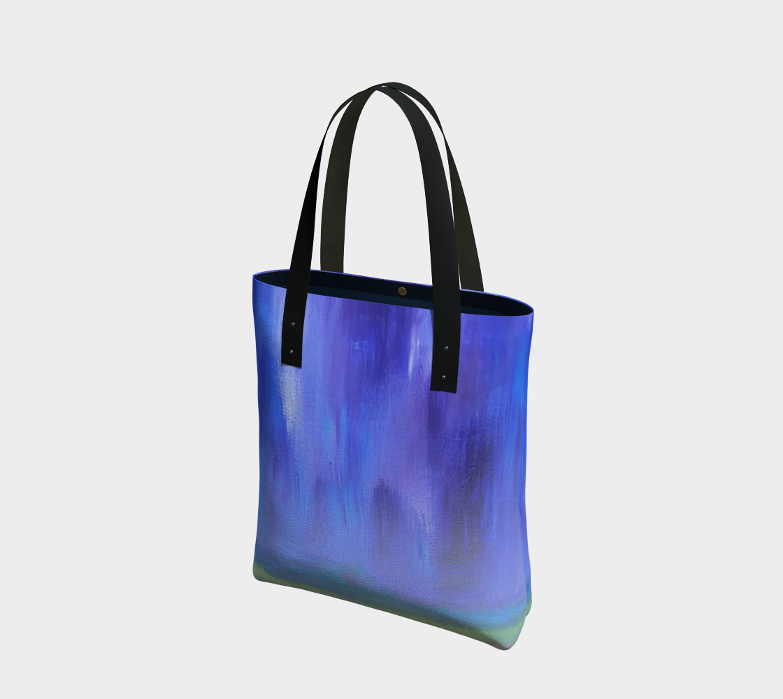 Shades of Blue Tote Bag 17 x19 inches preview