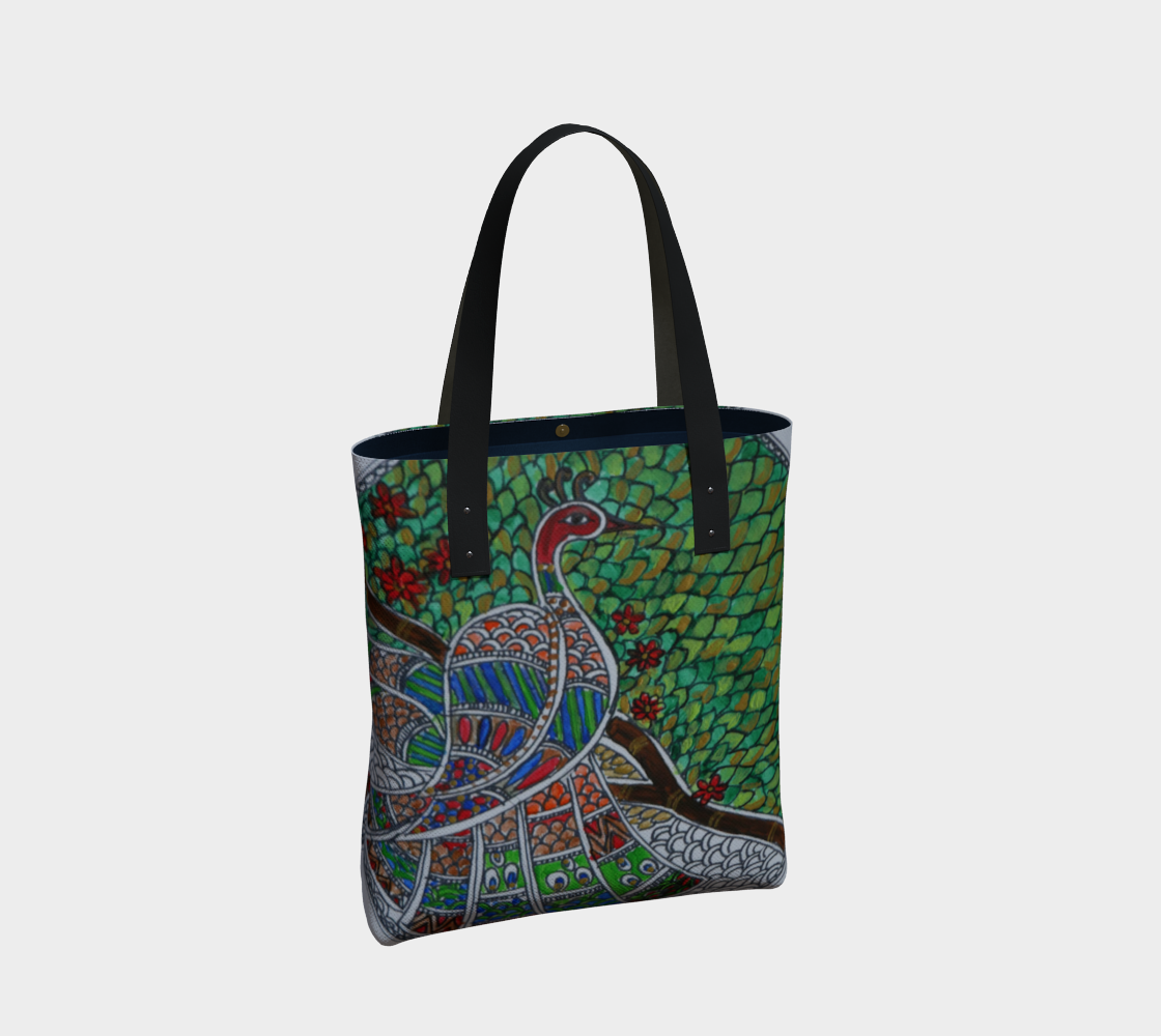 Peacock tote preview #2