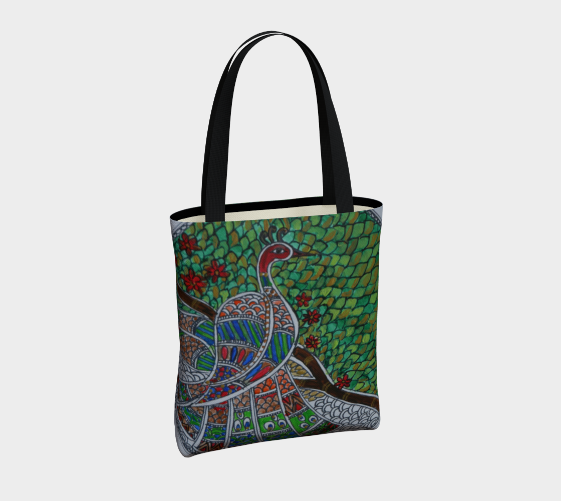 Peacock tote preview #4
