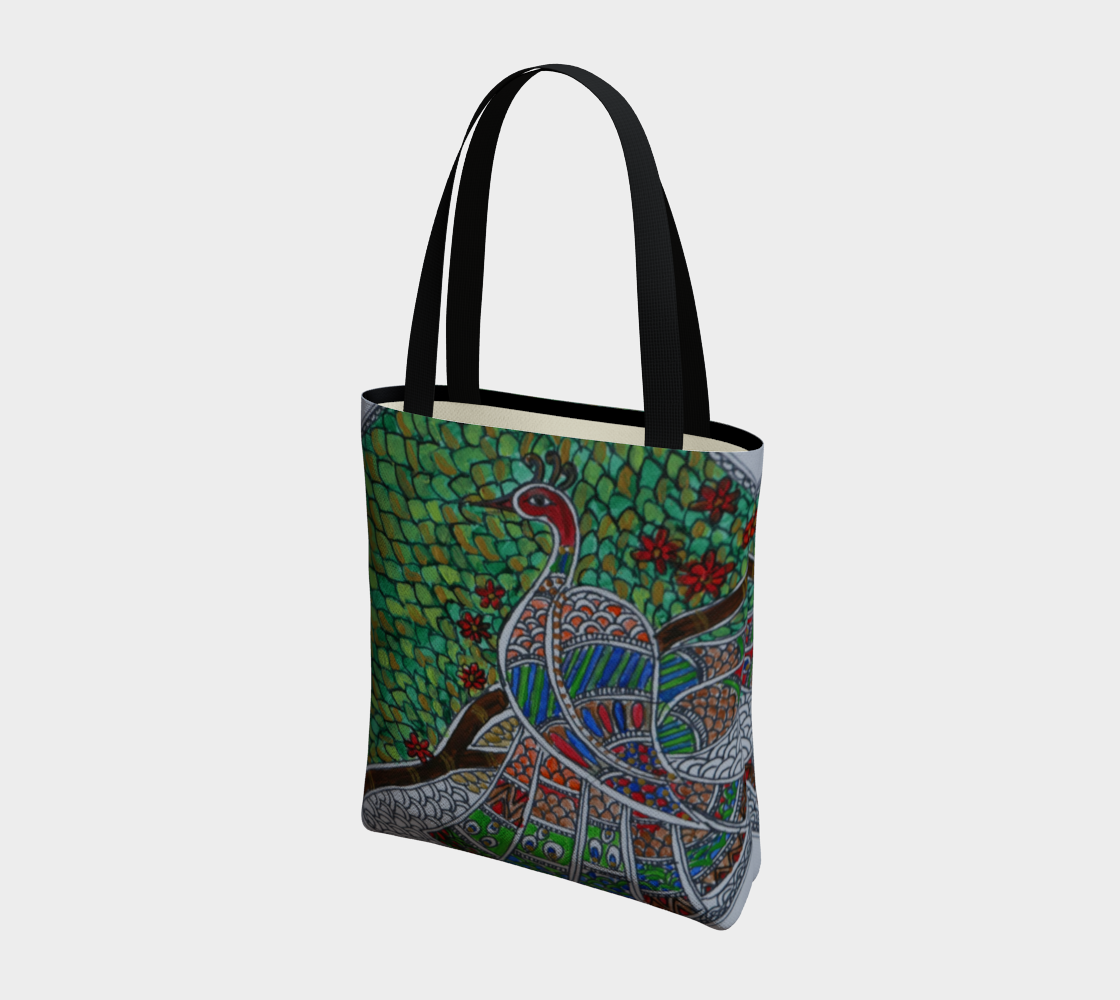 Peacock tote preview #3