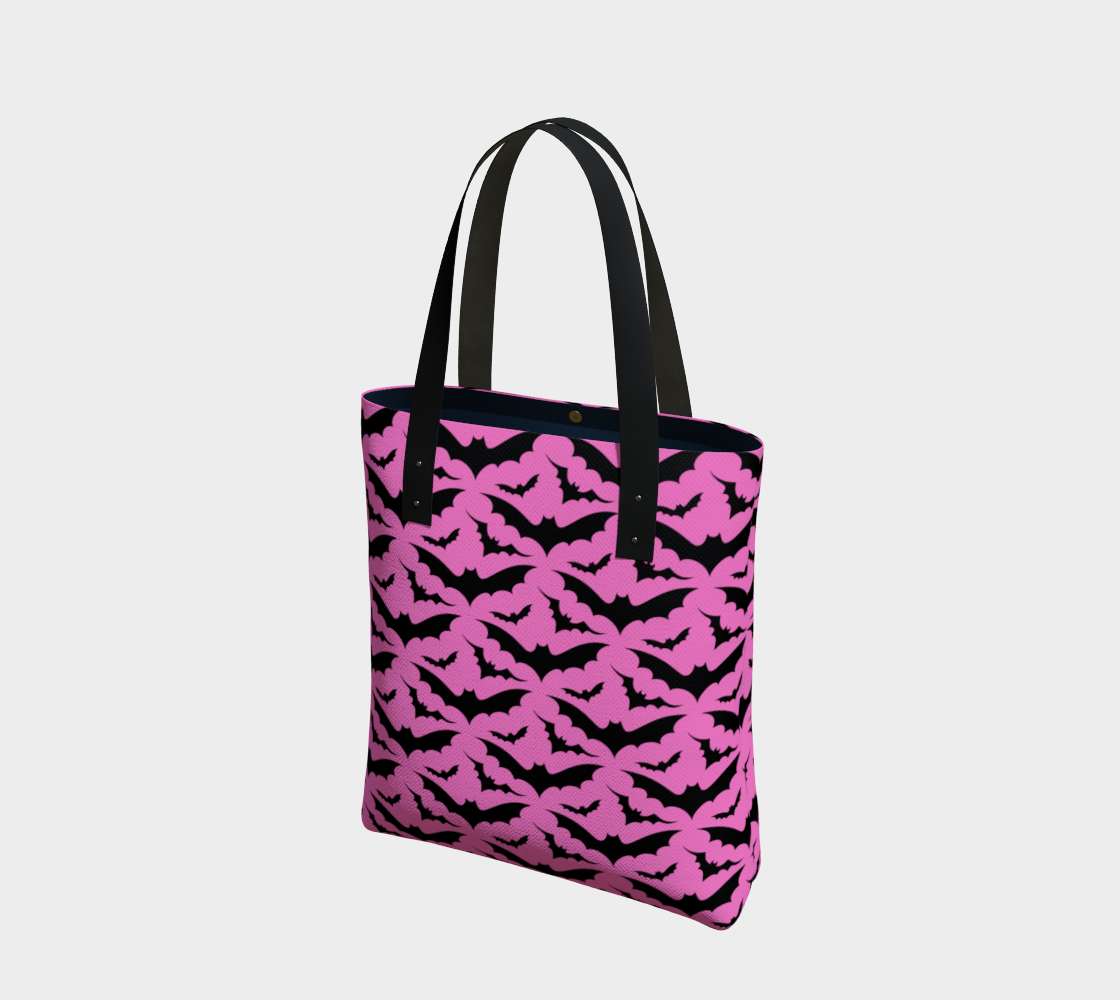 Pink Bats Tote Bag preview