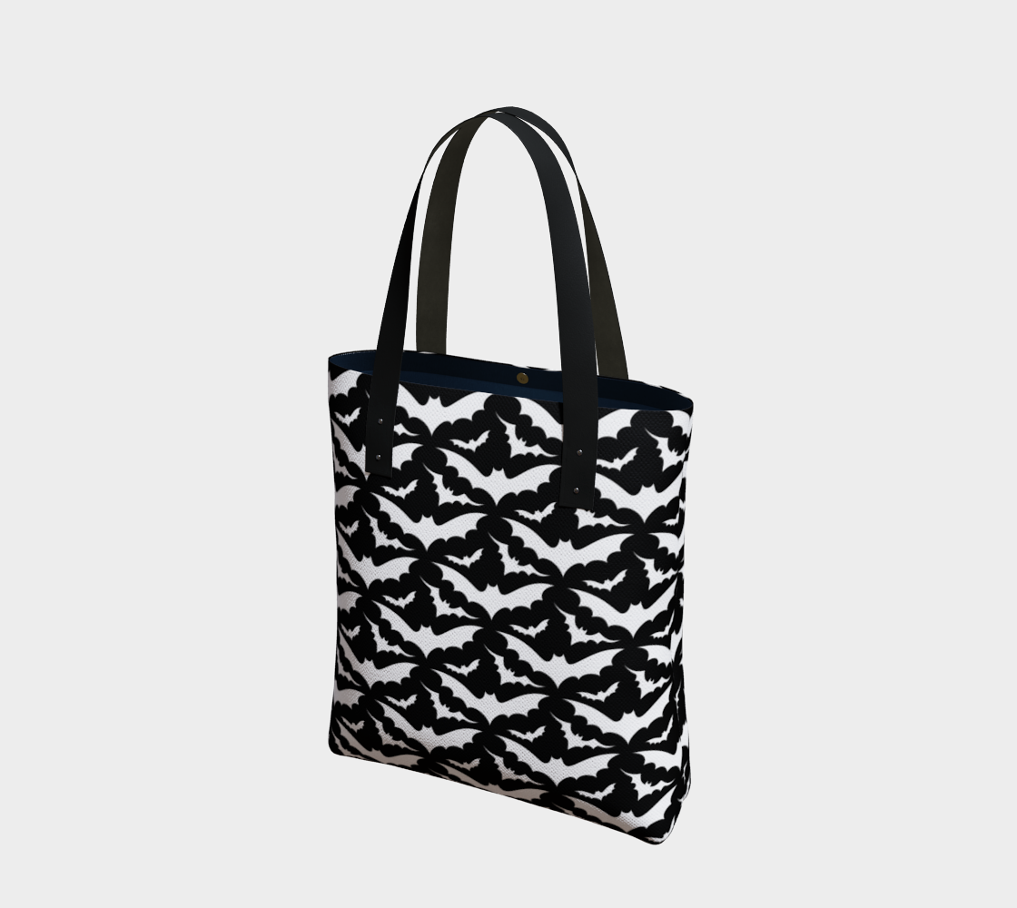 Black and White Bats Tote Bag preview