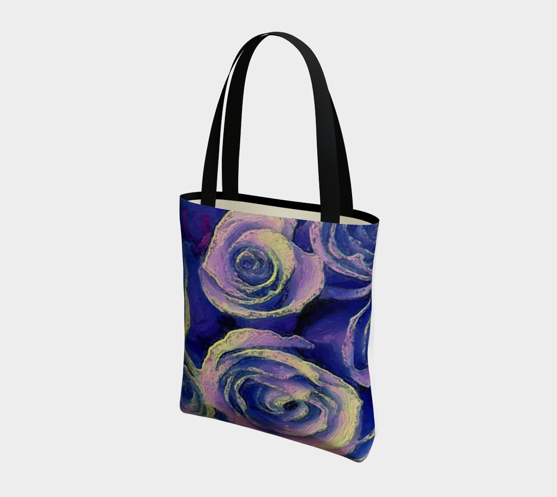 Purple Roses Tote by Bryan Bromstrup preview #3