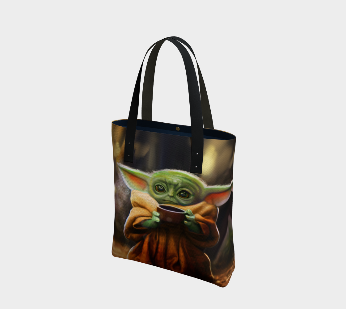 Baby Yoda Tote Bag preview