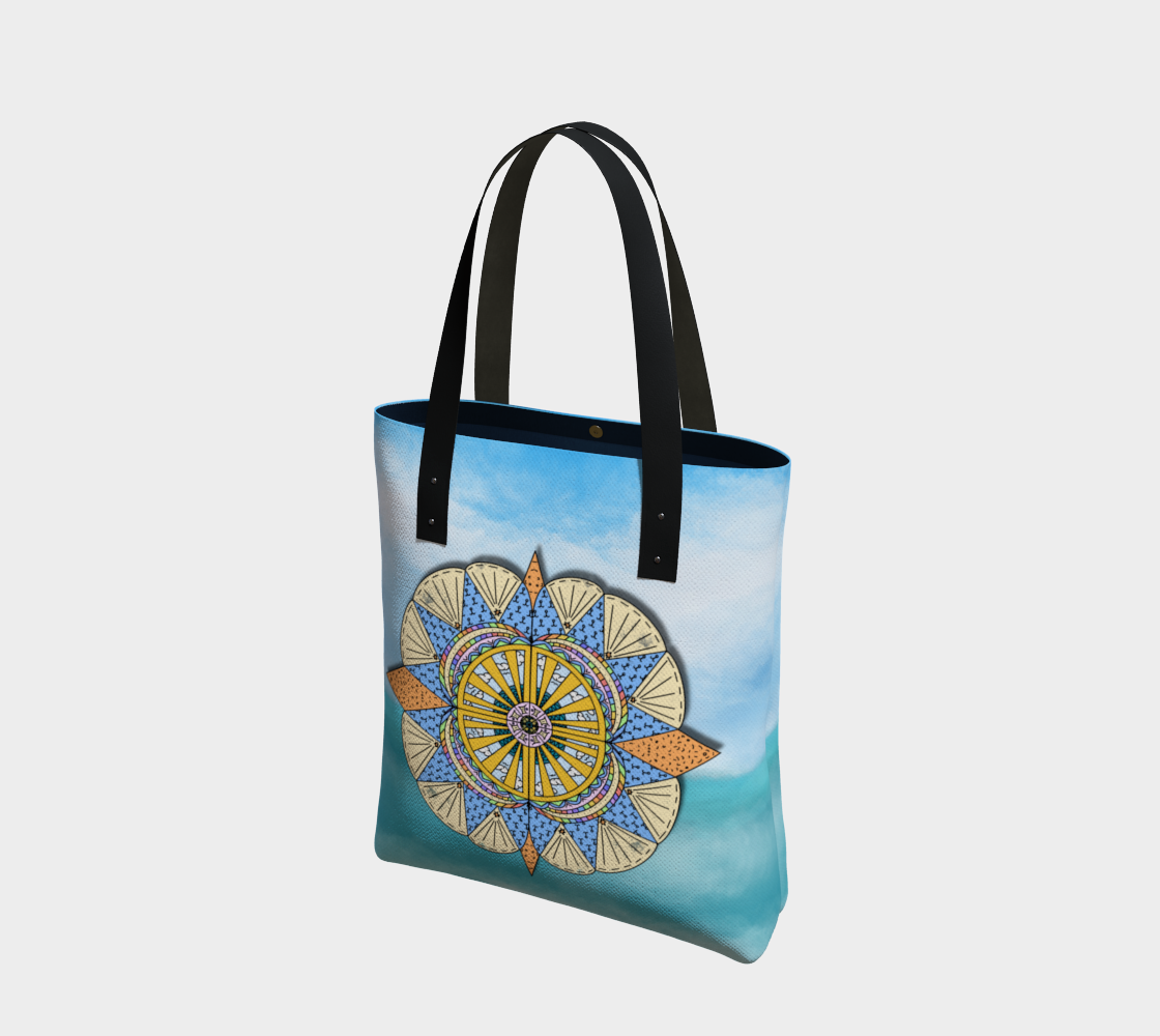 """Sail Away"" Beach Mandala Tote preview #1"