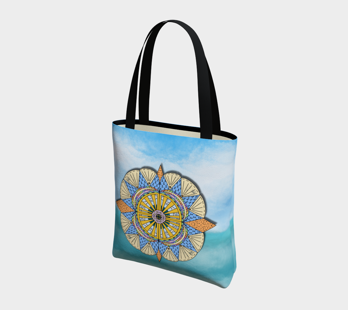 """Sail Away"" Beach Mandala Tote preview #3"