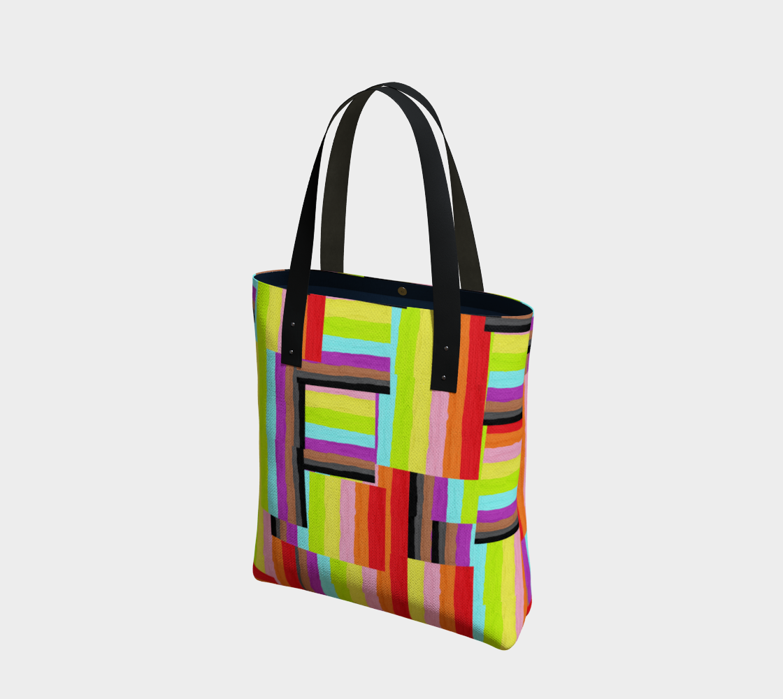 colorful tote bag preview