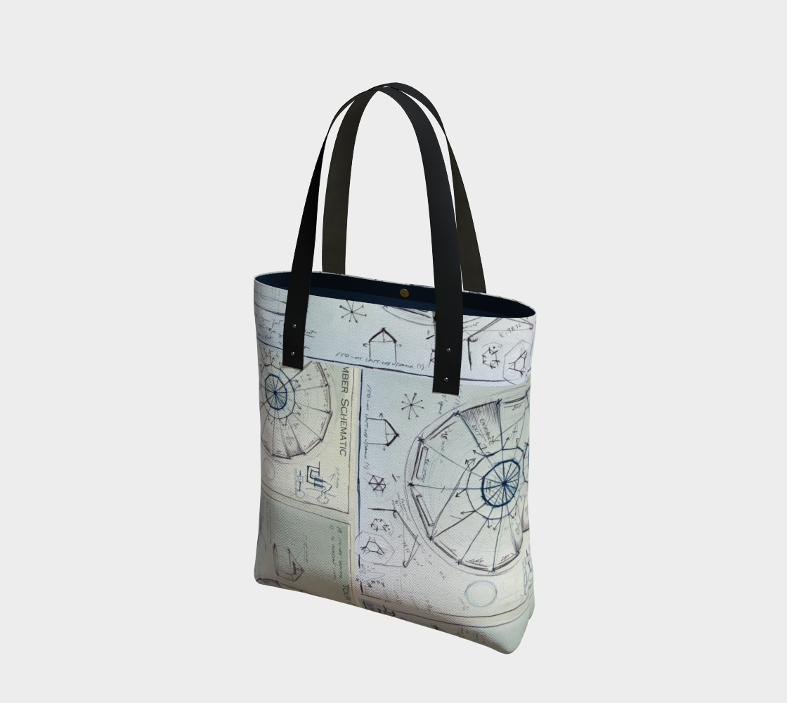 Devin Tour Chamber Schematic / Lady Architect's Tote Bag preview