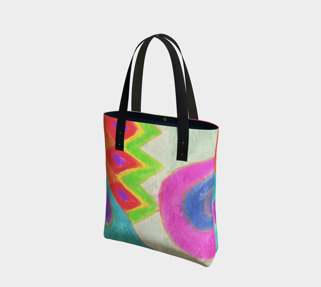 Aperçu de Summer Daze Abstract Art Shoulder Bag