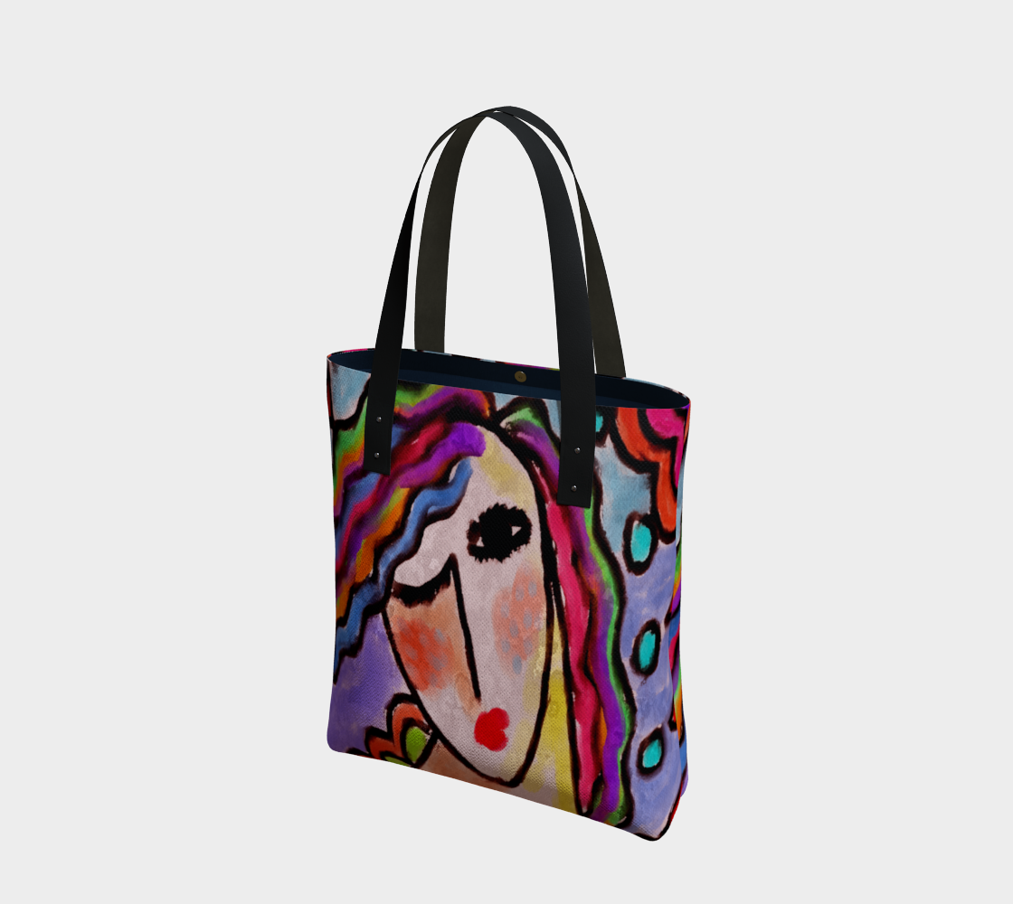 Colorful Abstract Portrait of a Woman Shoulder Bag preview