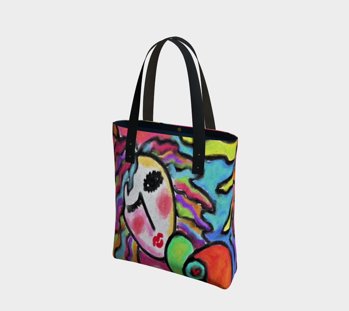 Wild One Abstract Portrait of  a Woman Shoulder Bag preview