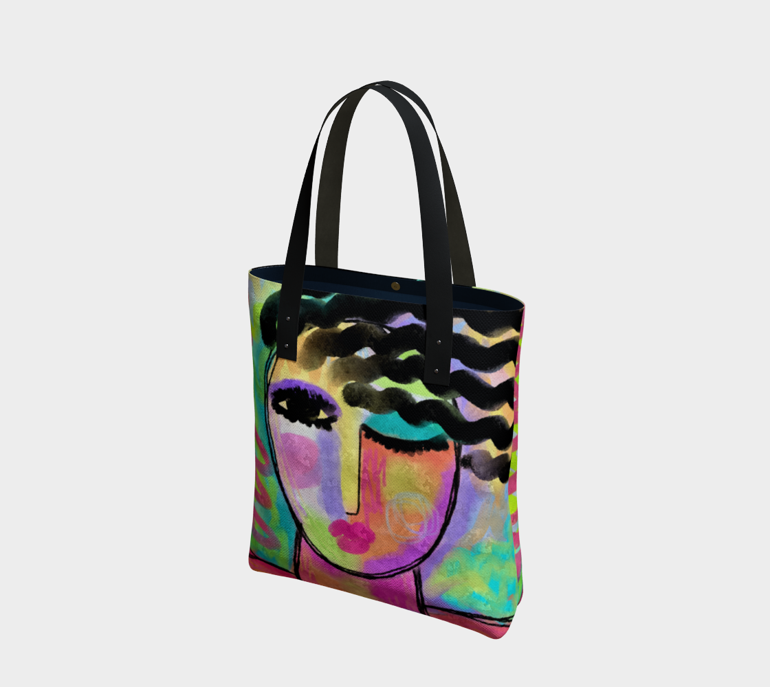Flirt Abstract Portrait of a Woman Shoulder Bag preview