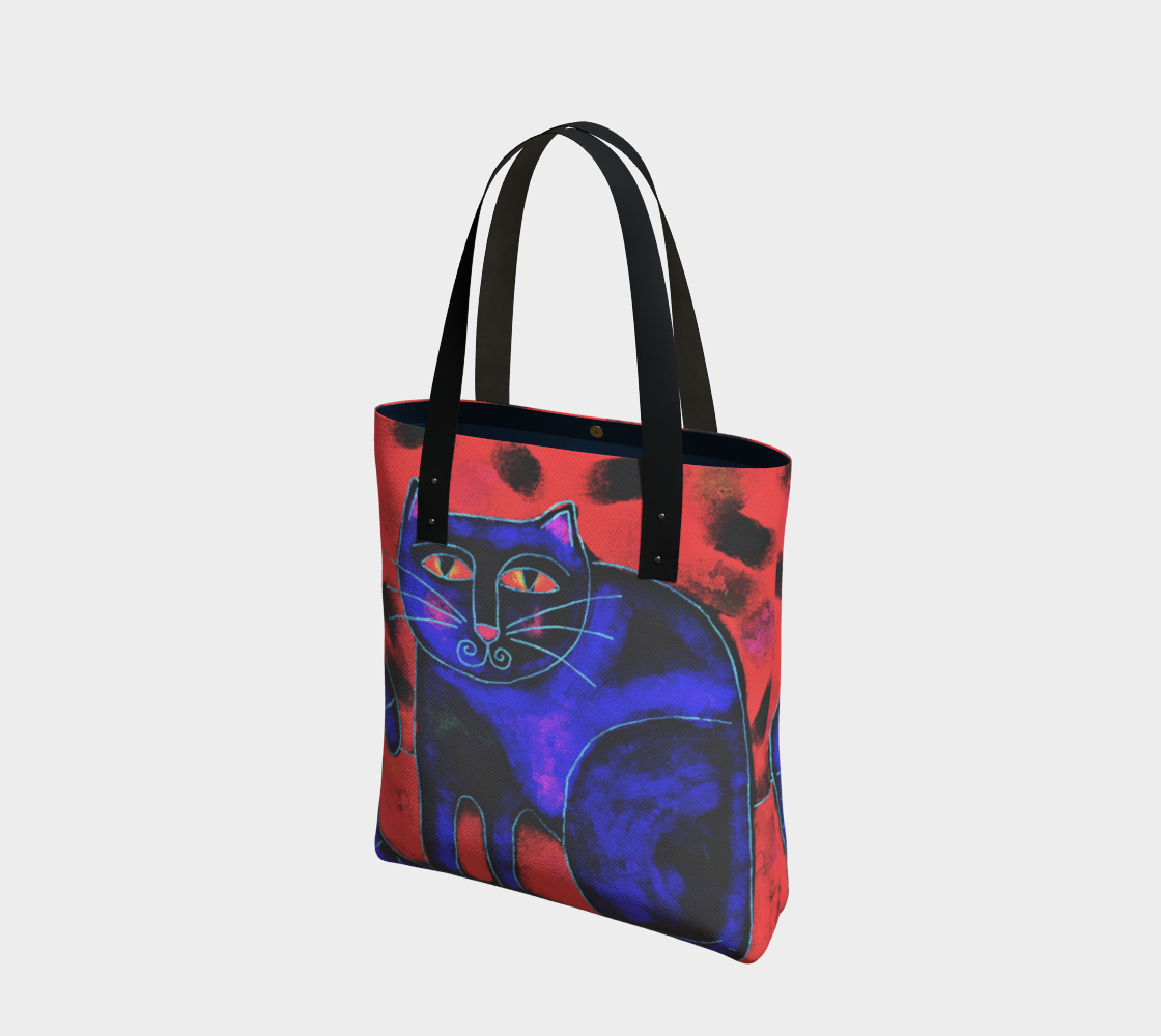 Funky Cat Abstract Art Shoulder Bag preview
