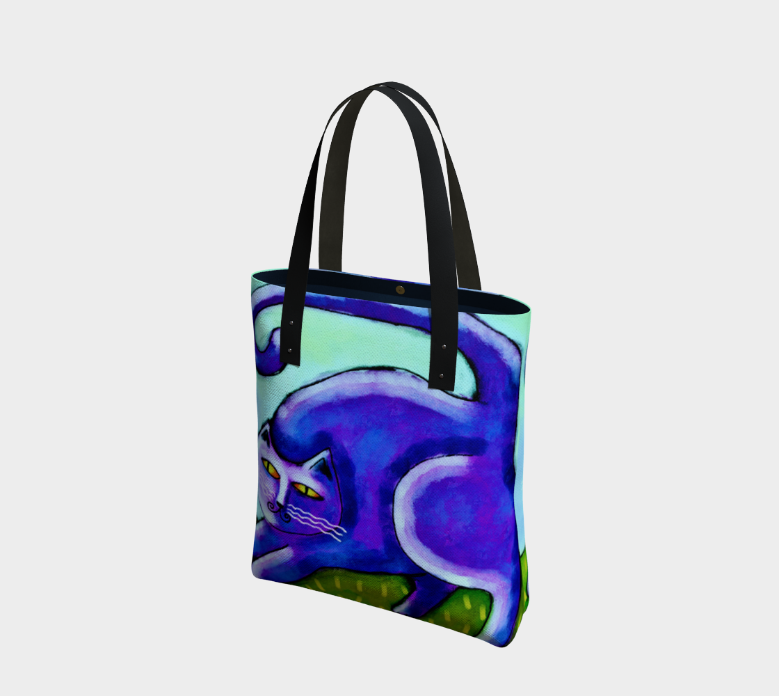 Abstract Purple Cat Shoulder Bag preview