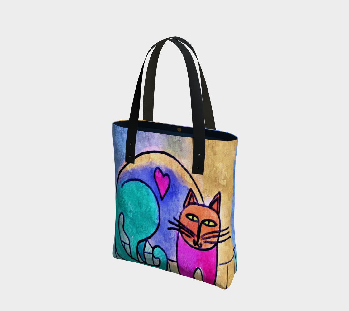 Kitty Love Abstract Digital Print Shoulder Bag preview