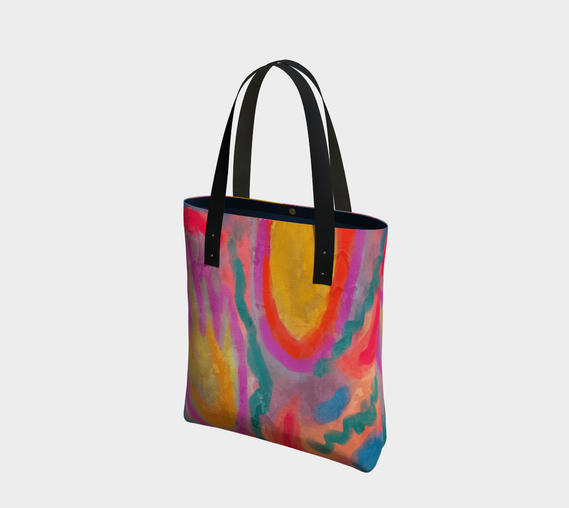Spring Colorful Abstract Digital Painting Shoulder bag preview