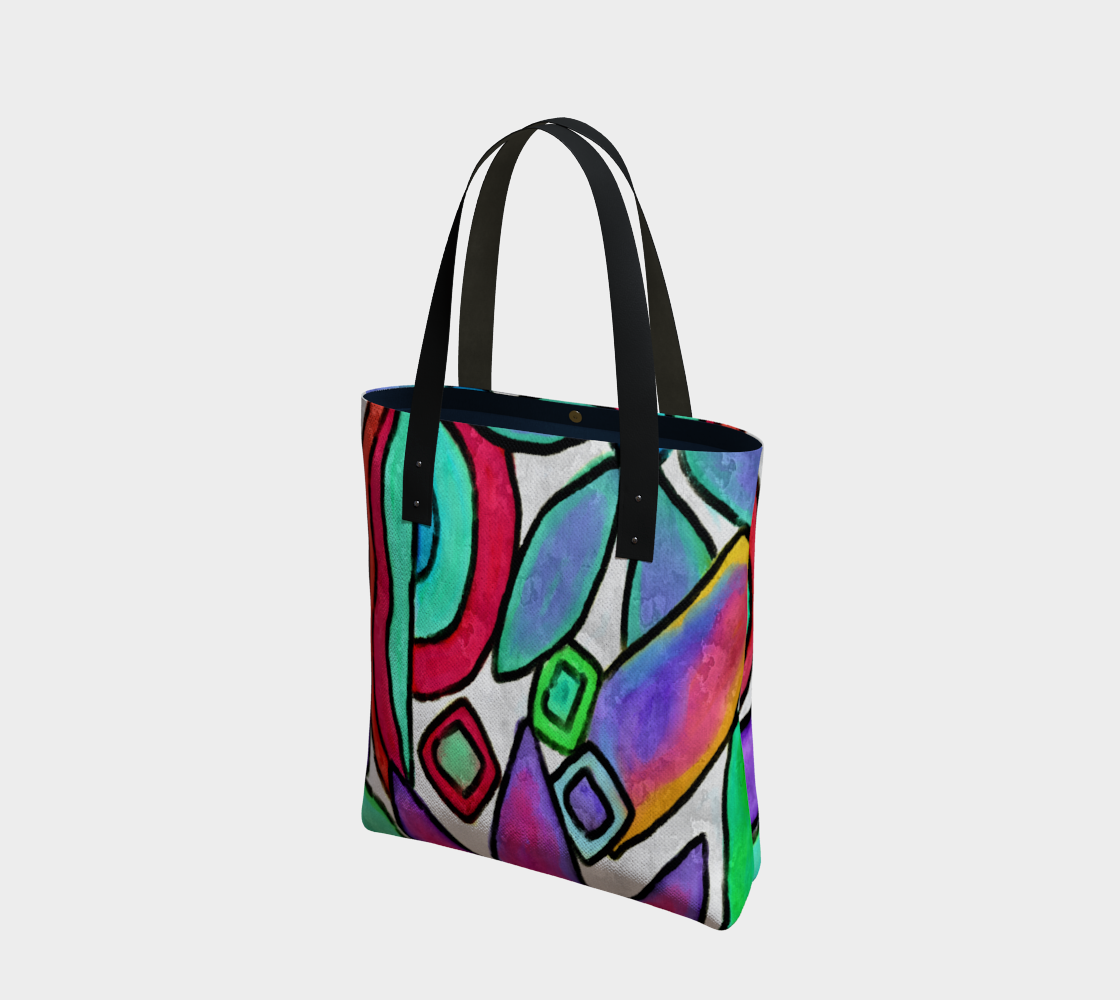 Funky Garden Abstract Digital Print Shoulder bag preview